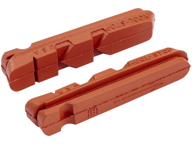 Kool Stop Dura Type Brake Pads for Aluminum Rims, salmon